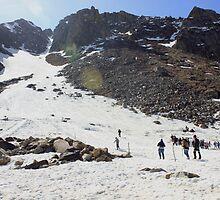 Skiing in Snow, Himalayas by 3rdeyelens