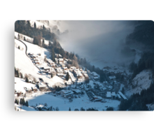 The Misty Valley Canvas Print