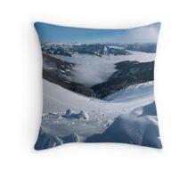 Snowman's Paradise Throw Pillow