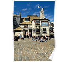 The Sloop Inn, St. Ives, Cornwall in 1990. Poster