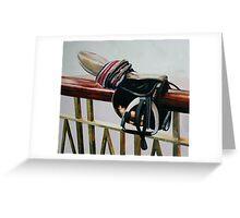 Racing Saddle Greeting Card