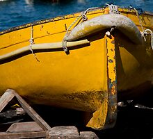 Yellow Skiff Of Capri by phil decocco