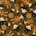 Cute Poncho Cowboy Pattern Illustration by MurphyCreative
