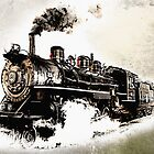 Vintage Steam Train by Abie Davis
