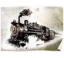 Vintage Steam Train Poster