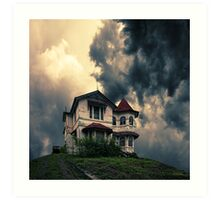 Storm on the horizon Art Print