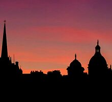 Edinburghs' Old Town at Dusk - Revisited by Den McKervey