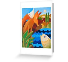 THE FOX AND THE FISH Greeting Card