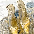 Gold Sling Backs by Sarah Butcher