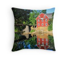 War Eagle Mill and Bridge, Arkansas Throw Pillow