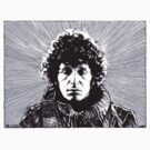 Dr Who - Tom Baker, The Fourth Doctor_T-Shirt: Politburo Design  by richard b. hamer