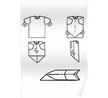 plane-t-shirt Poster