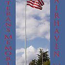 new veterans memorial flagpole, fairhaven, washington, usa by dedmanshootn