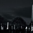 Graveyard at night by busterbrownbb