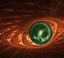 Emerald Sphere inside Citrine by viennablue
