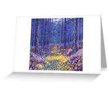 Blue Forest 3 Greeting Card
