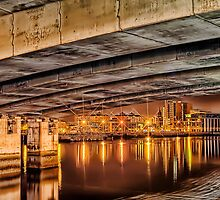 Under Bridge Reflections by peter donnan