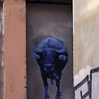 running of the blue bull by offpeaktraveler