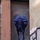 running of the blue bull by offpeaktraveler