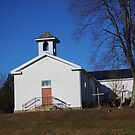 COUNTRY CHURCH IN FLOYDS KNOBS, INDIANA by Pauline Evans
