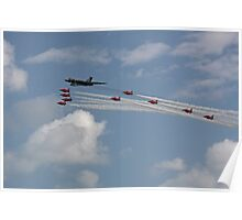 Vulcan XH558 and the Red Arrows Poster