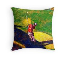 Babyboomer Golfing Throw Pillow