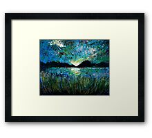 Twilight on a Transylvanian Lake Framed Print