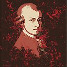 Mozart in Red v2 Print by HighDesign
