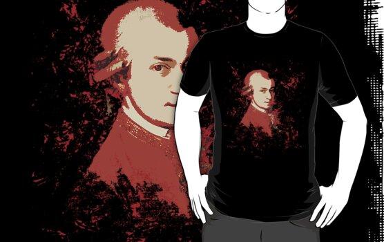 Mozart in Red v2 Shirt by HighDesign