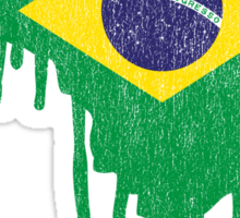 Brazil Paint Drip Sticker