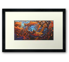 Chasing Nymphs- Brown Trout Fly Fishing Art  Framed Print