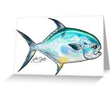Permit Illustration - Mike Savlen Fly Fishing art Greeting Card