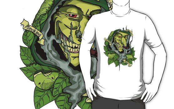 Tobacco Smoking Goblin by GuzDesign