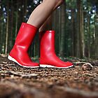 Girl in the Red Gum Boots by ieatstars