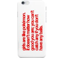 Pokemon Quote iPhone Case/Skin