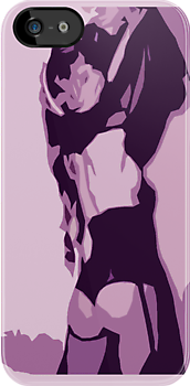 Pin Up Girl's Back - Purple by HighDesign
