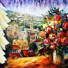 FLOWERS OF JERUSALEM - LEONID AFREMOV by Leonid  Afremov