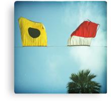 beach flags Canvas Print
