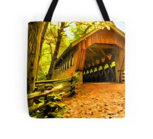 Covered Bridge,Little Hope Wisconsin #2 Tote Bag