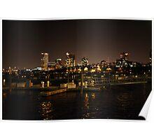 Milwaukee Night Skyline Poster