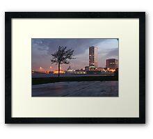 Milwaukee Night Cityscape Framed Print