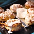 Fresh-baked Cinnamon Rolls by ieatstars
