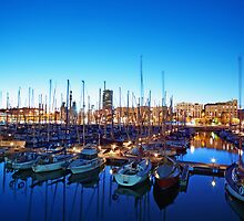 Marina Port Vell in Barcelona. by fineartphoto1