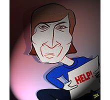John Lennon Digital Cartoon Caricature Photographic Print
