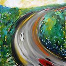 Road2. 24 x 24. Acrylic on Canvas. by csoccio100