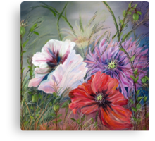 Poppies Passing Canvas Print
