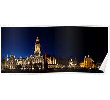 Night panorama of Verne,  Belgium Poster
