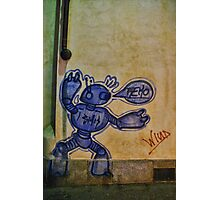 Robot Graffiti in Rivoli, Italy Photographic Print