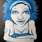 Blue Girl by Knickersart