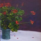 Mum's geraniums by Hugh Cross